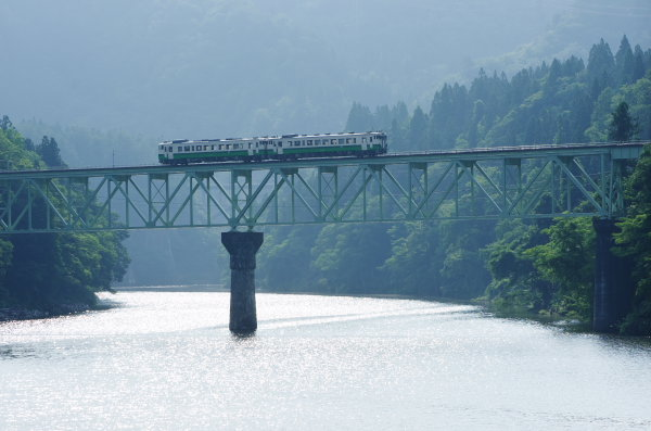 夏の只見線 第二橋梁