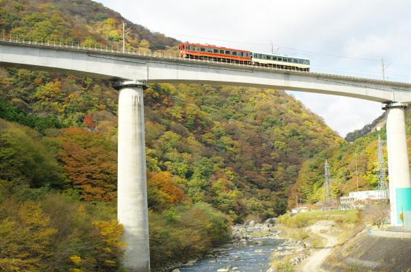 秋の野岩鉄道