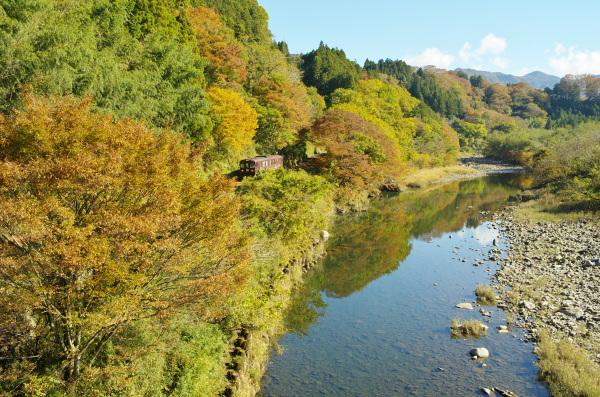 秋のわたらせ渓谷鉄道