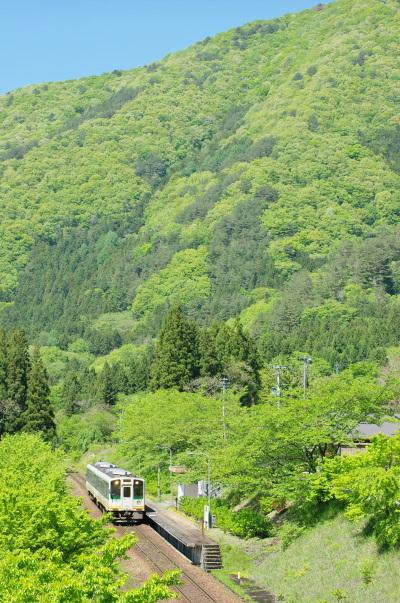 新緑の風景を求めて〜会津鉄道